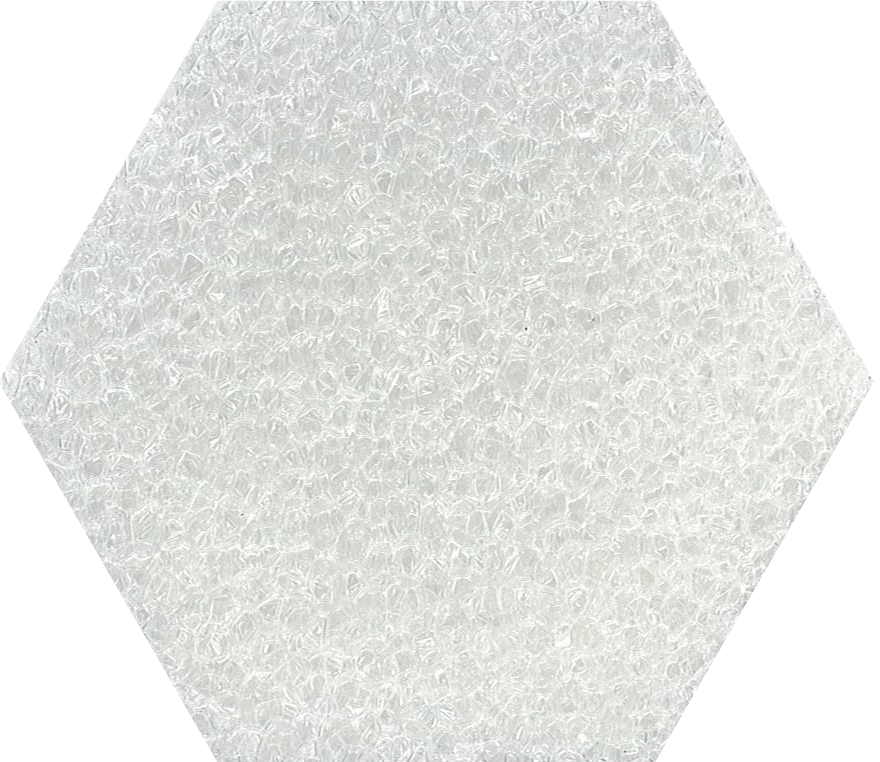 polyester white coarse glaspore foam