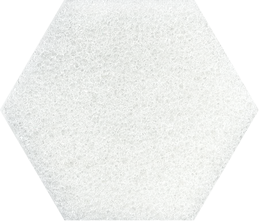 white fine glaspore foam