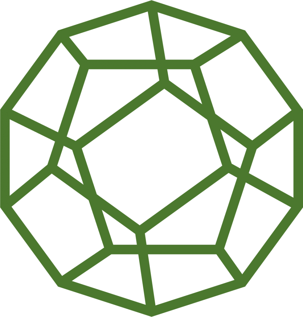 Sydney Heath and Son dodecahedron in dark green