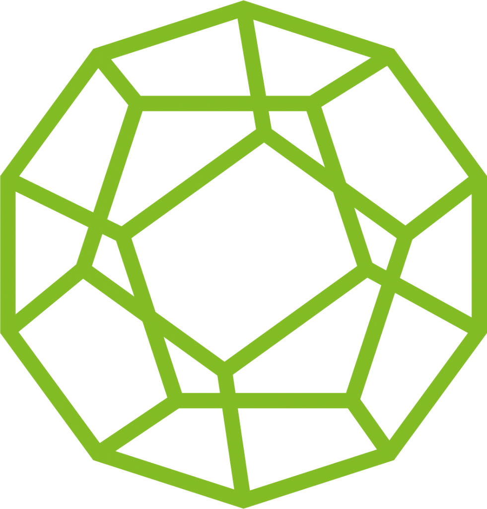 Sydney Heath and Son dodecahedron in light green