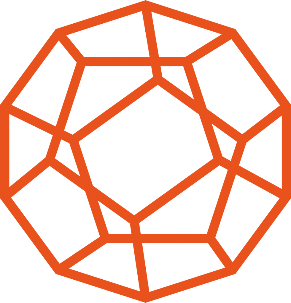 SHS dodecahedron in orange